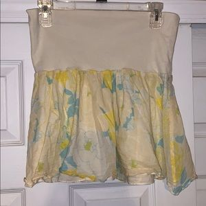 Free People Yellow Floral MiniSkirt